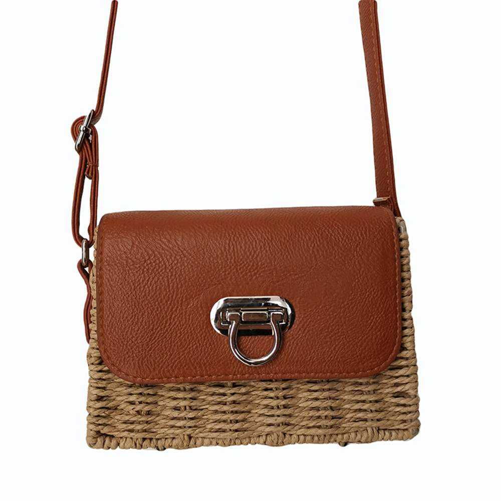 Ericdress Knitted Thread Square Crossbody Bag