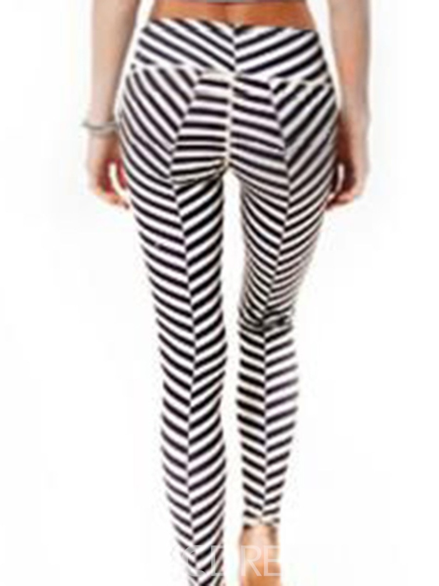 Ericdress Quick Dry Print Zebra Stripe Yoga Pants
