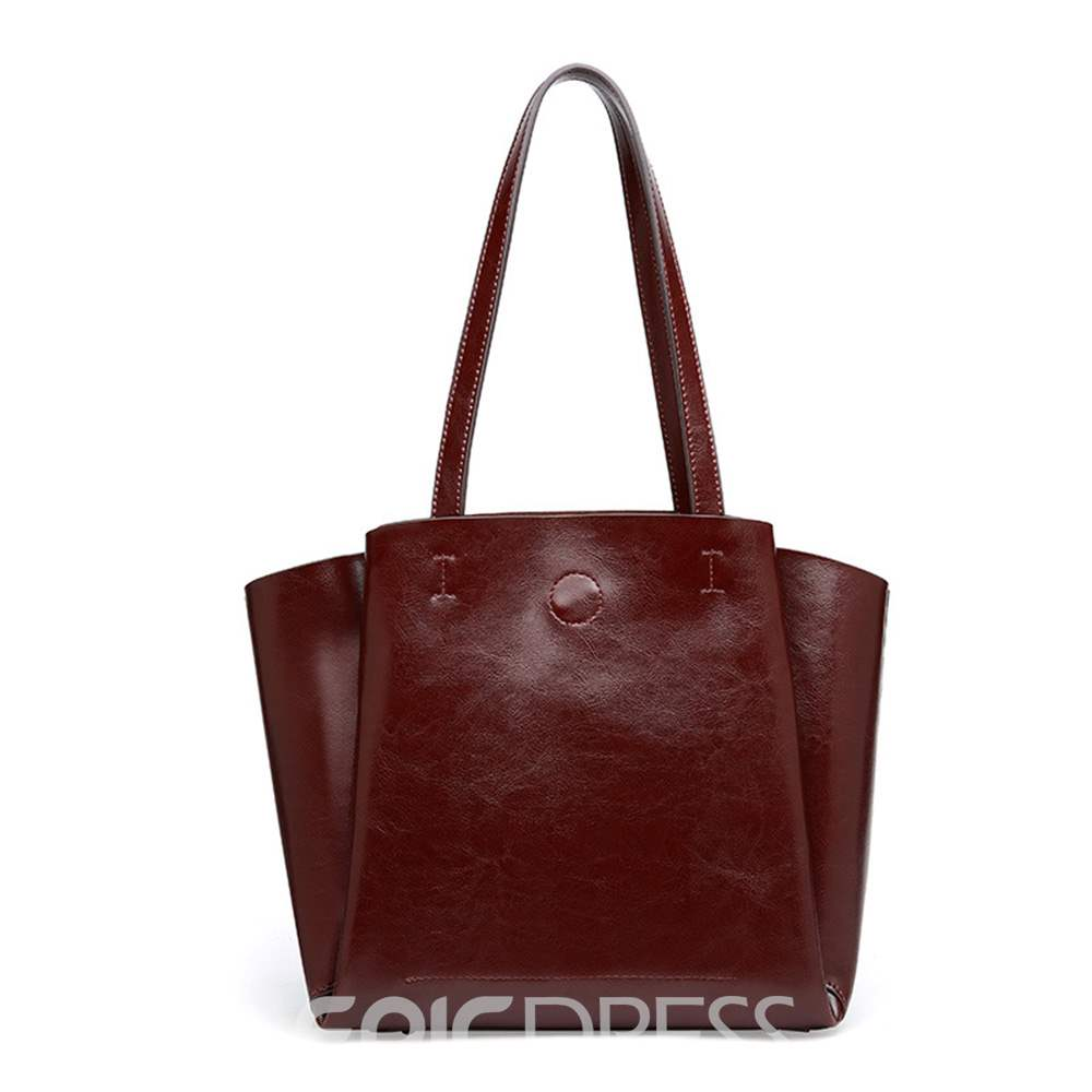 Ericdress PU Fashion Barrel-Shaped Shoulder Bag