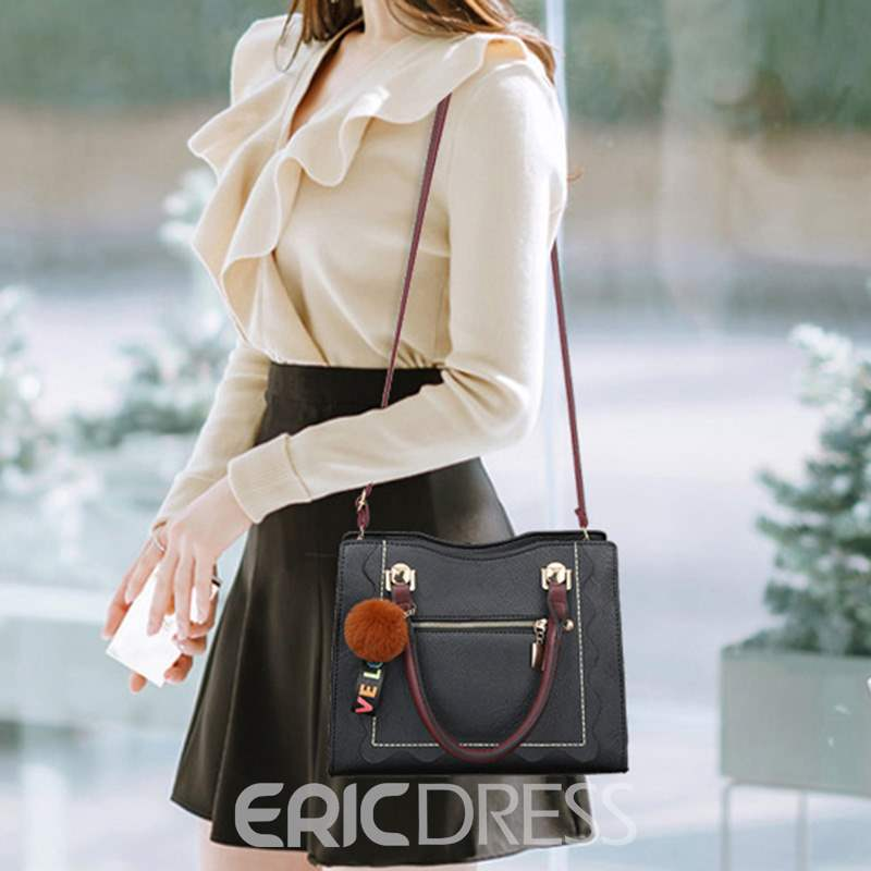 Ericdress PU Plain Spring Medium Handbag