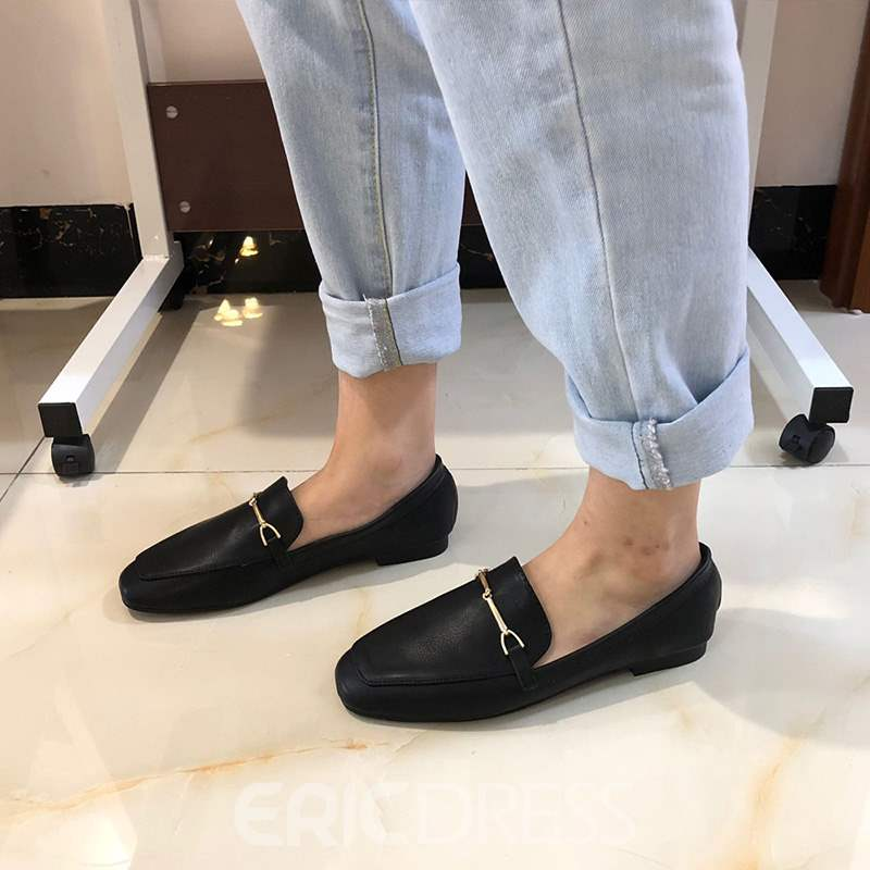 Ericdress Square Toe Slip-On Women's Flats