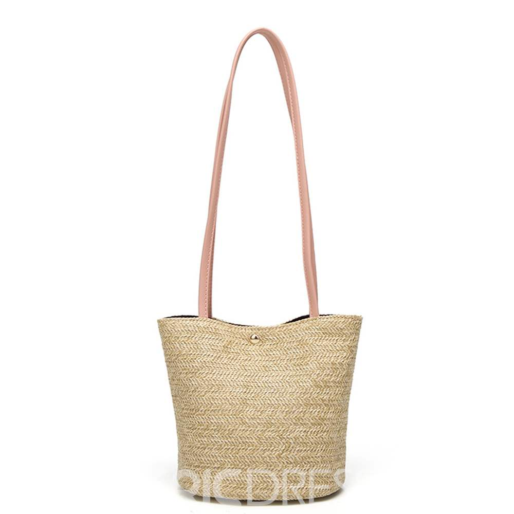 Ericdress Knitted Plain Barrel-Shaped Shoulder Bag