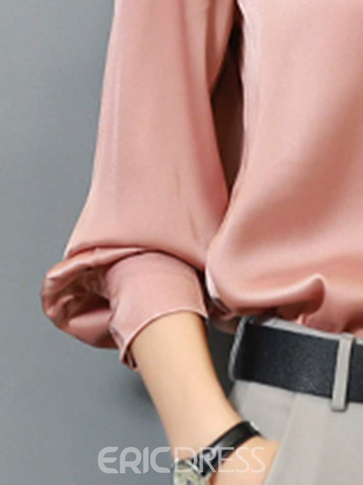 Ericdress Bowknot Plain Regular Standard Long Sleeve Blouse