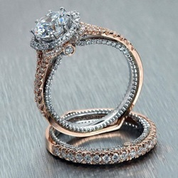 Ericdress Rhinestone Bronze Wedding Ring thumbnail