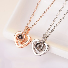 Ericdress Heart-Shaped Lettter Necklace
