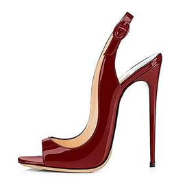 Ericdress Stiletto Heel Slingback Strap Women's Red Sandals