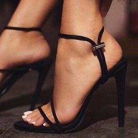 Ericdress Elastic Band Ankle Strap Stiletto Heel Women's Sandals