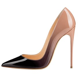 Ericdress PU Gradient Stiletto Heel Pointed Toe Women's Pumps