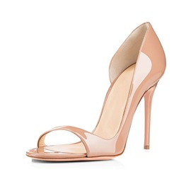 Ericdress Peep Toe Heel Covering Women's Nude Sandals