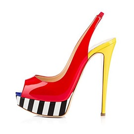 Ericdress Peep Toe Stiletto Heel Slingback Strap Women's Sandals