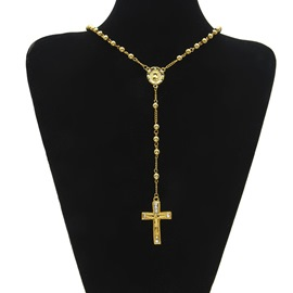 Ericdress Cross Diamante Necklace For Men