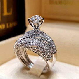 Ericdress Diamante Engagement Ring