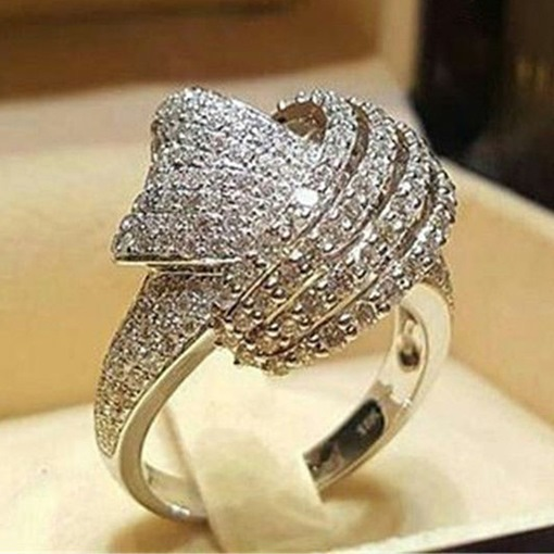 Ericdress Rhinestone Diamante Shining Ring