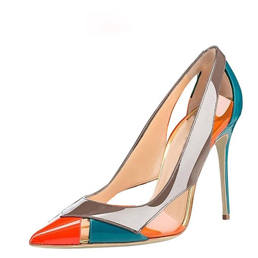 Ericdress Color Block Stiletto Heel Peep Toe Women's Pumps