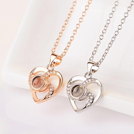 Ericdress 100 Language Saying I love You Pendant Necklace