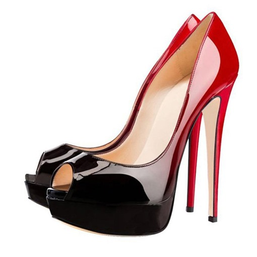 Ericdress Stiletto Heel Peep Toe Platform Women's Pumps