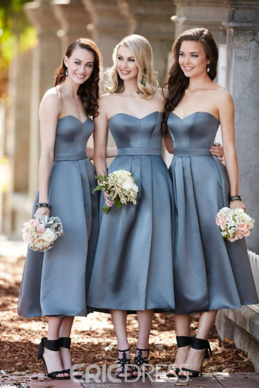 Ericdress Sweetheart A-Line Tea-Length Bridesmaid Dress