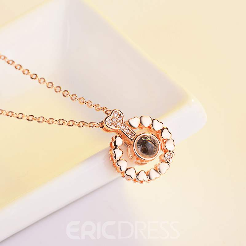 Ericdress Flower Heart-Shaped Necklace