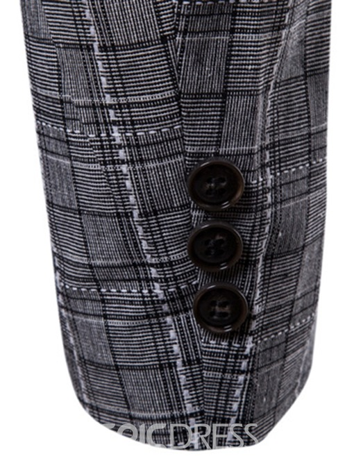 Ericdress Plaid One Button Mens Slim Casual Blazer