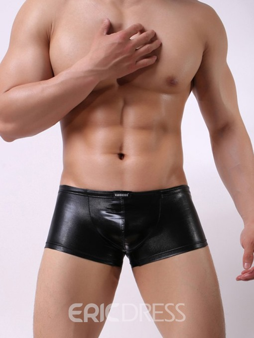 Ericdress Man's Plain Boyshort Low-Waist Boxer Underwear
