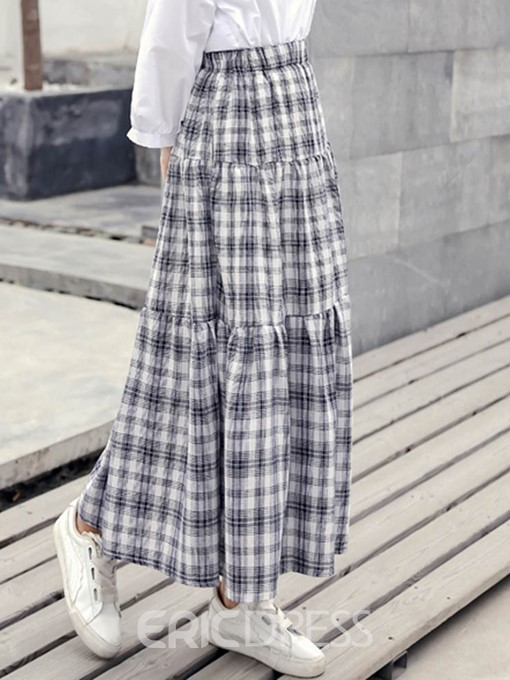 Ericdress Plaid A-Line Mori Girl Elegant Women's Skirt