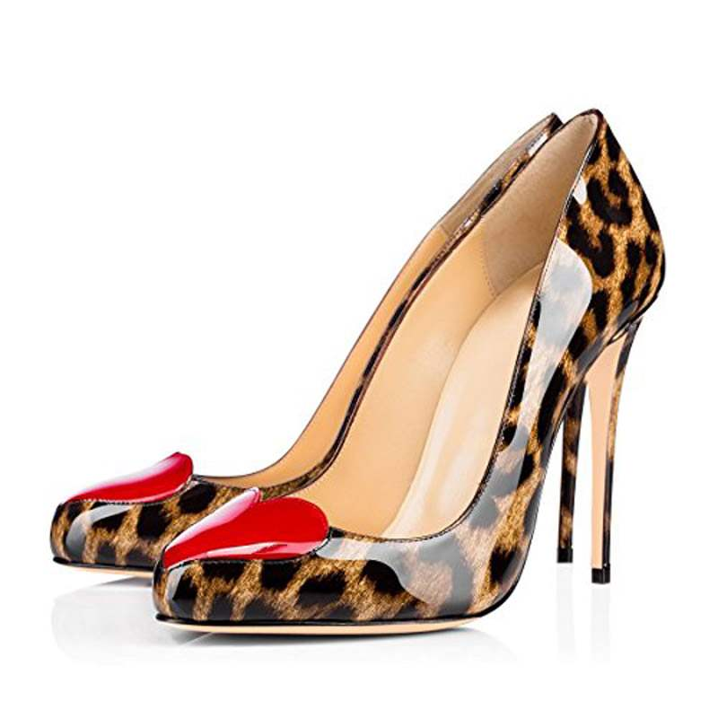 Ericdress Leopard Print PU Pointed Toe Stiletto Heel Women's Pumps