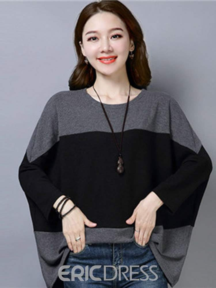 Ericdress Batwing Sleeve Long Sleeve Spring Sweater