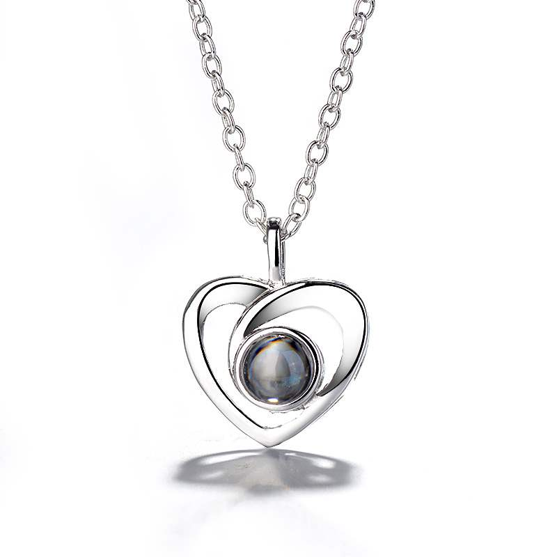 Ericdress Heart-Shaped E-Plating Necklace