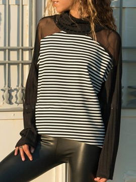 Ericdress Long Sleeve Mid-Length Stripe Loose Spring T-Shirt