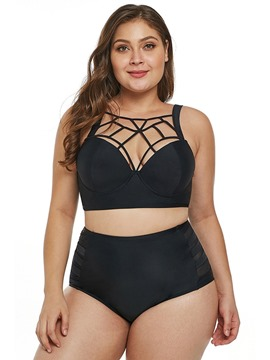 Ericdress Hollow Sexy Plain Beach Look Women's Tankini Set