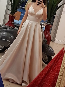 Sleeveless Strapless Floor-Length A-Line Prom Dress