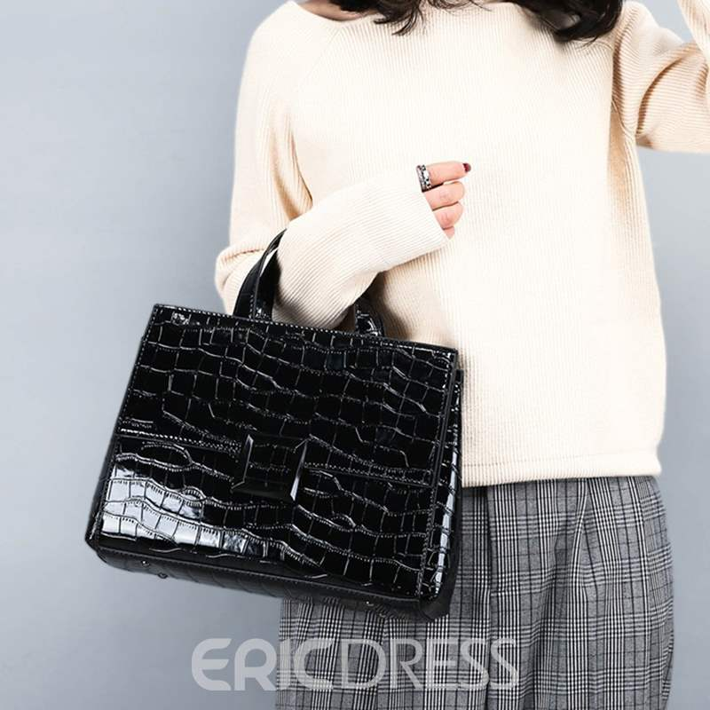 Ericdress PU Alligator Square Handbag
