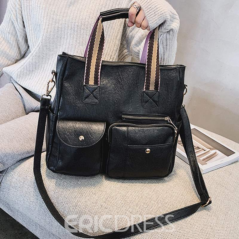 Ericdress PU Casual Plain Square Handbag