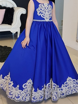 Ericdress Bowknot Appliques Beading Flower Girl Dress 2019