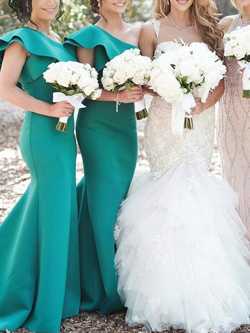 Ericdress One Shoulder Mermaid Bridesmaid Dress 2019