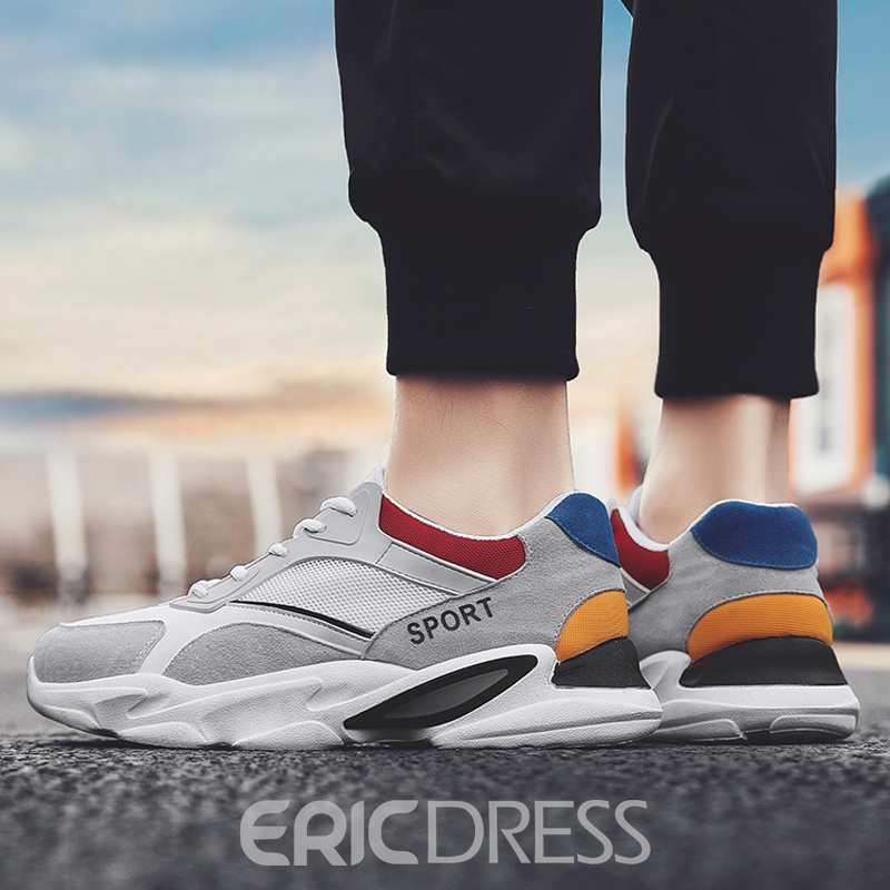 Ericdress Lace-Up Mesh Men's Casual Running Shoes