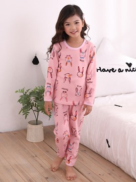 Ericdress Cartoon Printed Girl's Casual Pajamas
