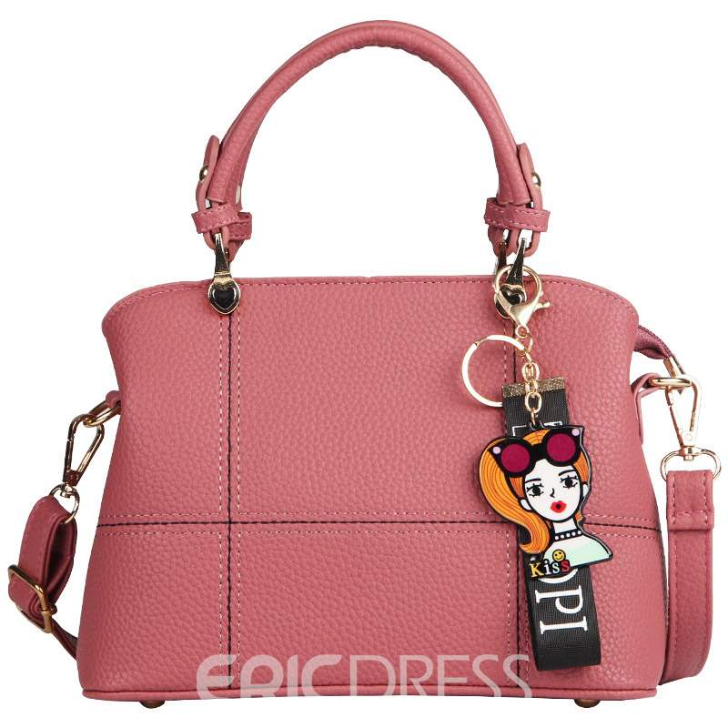 Ericdress Quilted Lining PU Plaid Square Handbag
