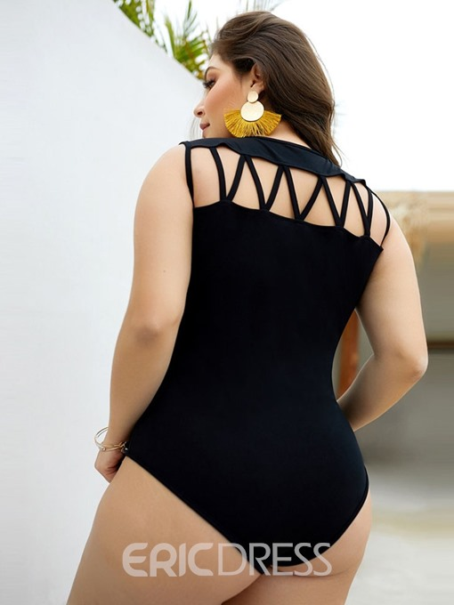 Ericdress Plus Size Hollow Sexy Skinny Bodysuit