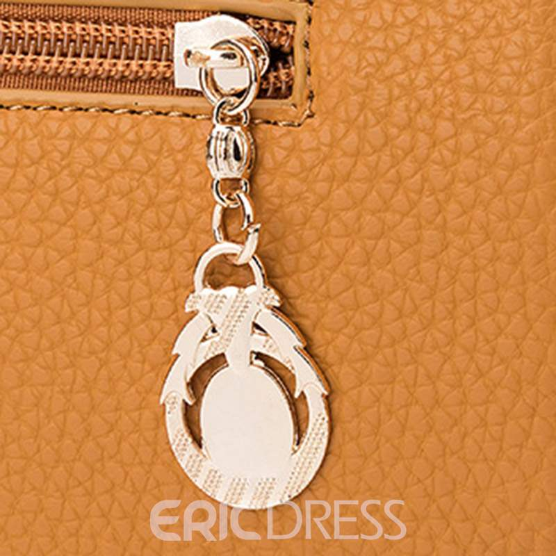 Ericdress Casual Plain PU Square Handbag