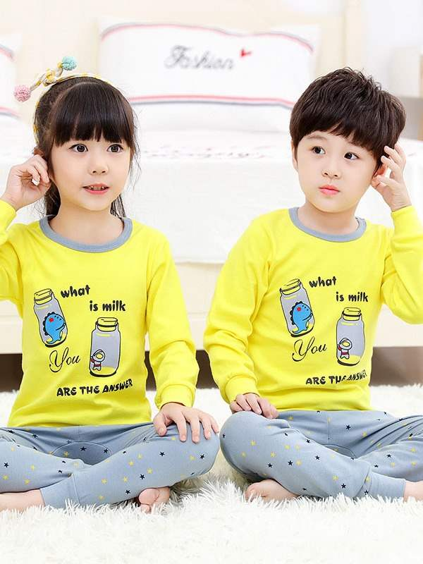 Ericdress Cartoon Printed Kid's Casual Pajamas