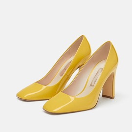 Ericdress Square Toe Candy Color Slip-On Women's Pumps