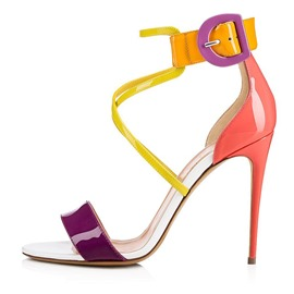 Ericdress Candy Color Stiletto Heel Buckle Women's Sandals