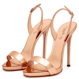Ericdress PU Slingback Strap Stiletto Heel Women's Sandals