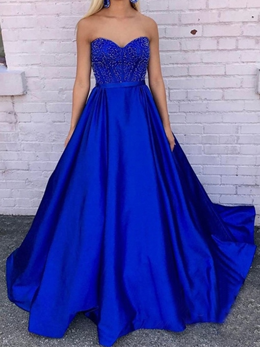 Ericdress A-Line Sweetheart Evening Dress With Beadings