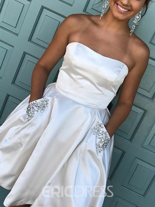 Strapless Sleeveless Short Cocktail Dress 2019