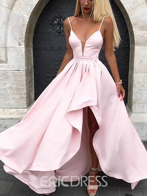 Ericdress Spaghetti Straps High Low Bridesmaid Dress 2019