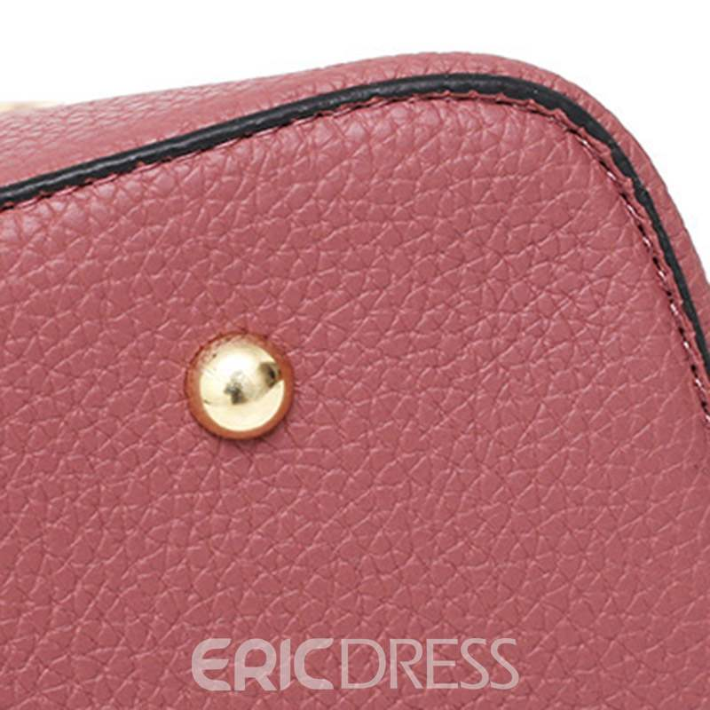 Ericdress Floral Embroidery Lock PU Bag Set