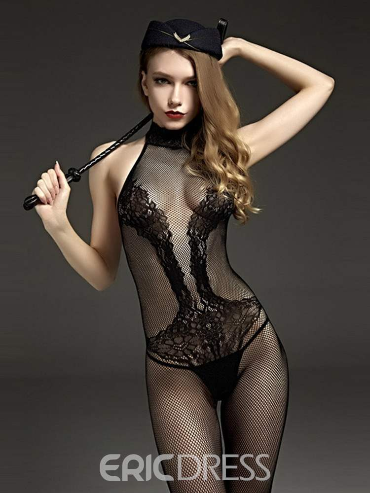 Ericdress Crotchless Hollow Tight Wrap Sexy Bodystocking Teddies