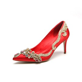 Ericdress Rhinestone Stiletto Heel Women's Wedding Shoes
